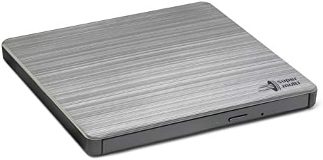 Hitachi-LG GP60 External DVD Drive, Slim Portable DVD Burner/Writer/Player for Laptop, with TV Connectivity, Windows and Mac OS Compatible, USB 2.0, 8x Read/Write Speed - Black