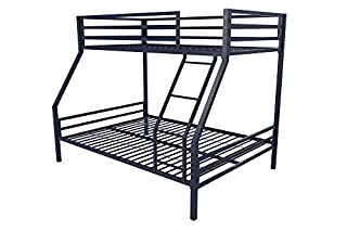 Novogratz Maxwell Twin/Full Metal Bunk Bed, Sturdy Metal Frame with Ladder and Safety Rails, Navy Blue (B07717T1G5) | Amazon price tracker / tracking, Amazon price history charts, Amazon price watches, Amazon price drop alerts