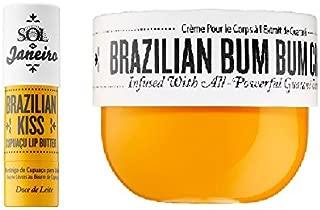 Brazilian Bum Bum Cream 8 oz and Brazilian Kiss Lip Butter - Bundle