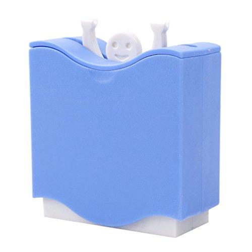 TUANTALL Accessoire Cuisine Objet Insolite Cuisine Gadgets Push Porte Cure-Dents Boîtes de Rangement Porte Cure-Dents créative Cuisine De Stockage Blue
