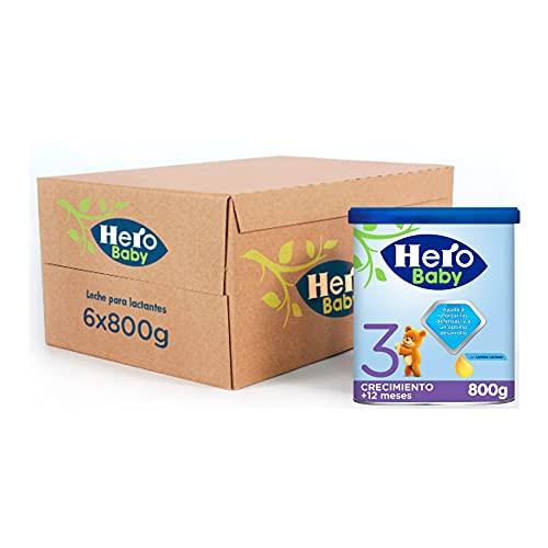 Hero Baby Leche 3 - Para niños a partir de 12 meses, Pack de 6 x 800 g