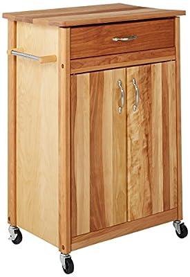 Catskill Craftsmen Butcher Block Cart with Flat Doors from Catskill