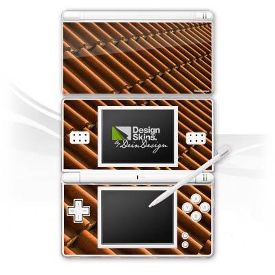DeinDesign Skin kompatibel mit Nintendo DS Lite Aufkleber Sticker Folie Dachziegel Ziegel Look Pattern
