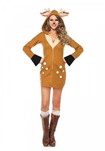shoperama Cozy Fawn Disfraz para Mujer De Leg Avenue–Cervatillo Kitz Bambi Ciervo Reno