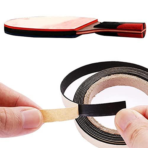 U/B Cinta de borde para bate de tenis de mesa, 3 cintas laterales de raqueta de tenis de mesa (1 cm x 2 m), color negro
