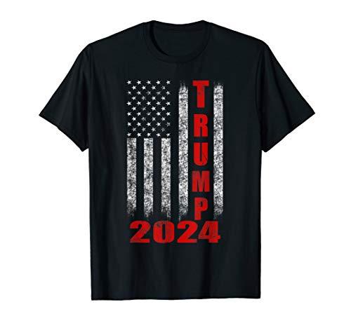 American Flag Design Trump 2024 T-Shirt