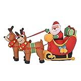 Decoraciones Inflables Navideñas, Decoraciones De Papá Noel Y Renos Al Aire Libre, Trineo Inflable De Navidad Con Reno De Papá Noel, Decoración Al Aire Libre, Luces LED, Decoración, 6 Pies