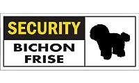 SECURITY BICHON FRISE ワイドマグネットサイン:ビションフリーゼ Mサイズ