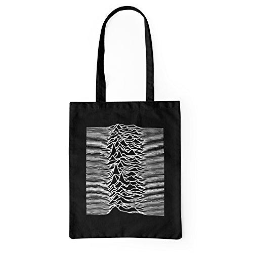 LaMAGLIERIA Borsa ecologica in tessuto Joy Division Mountains Artwork - tote bag shopping bag in cotone