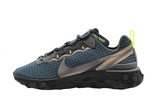 Nike Nike React Element 55 Men'S Shoe - lt orewood brn/black-white-cool gre, Größe:4