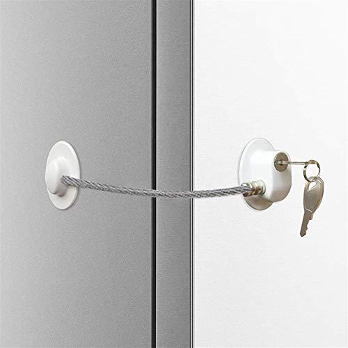 DUO ER Seguridad 1pc El Cambio de cerraduras de Puertas Frigorífico Cerradura de Puerta con el Bloqueo de Teclas del congelador de refrigerador Niños Seguridad Gabinete de Bloqueo