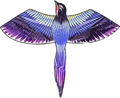 ZHEYANG Drachen Flugdrachen Purple Magpie Kite mit Spannweite für Kinder und Erwachsene Anfängerdrachen mit Drachenleine Einfach zu fliegen, sehr geeignet für Strandparks Kites Model:G07019(Color