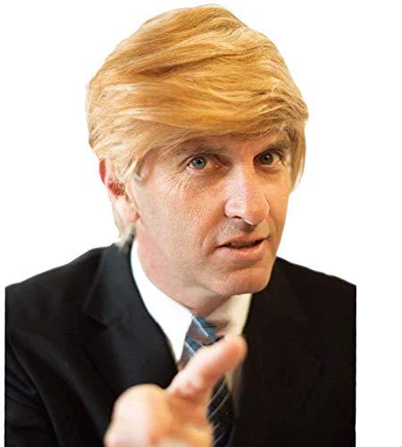 FXNB Perücke Für H, Herr Präsident Donald Trump Haarperücke Haarperücke Frisur Halloween Milliardär Ancy Kleid Accessoire Kostüm Kostüm