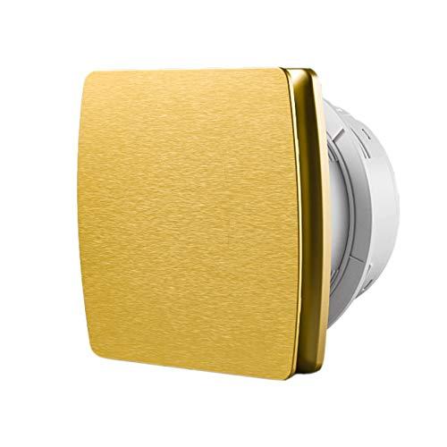 Starsmyy Silencioso Ventilador Extractor De Baño De 100 Mm Adecuado para Oficina Baño Ventilador De Pared 95 M³/H 32 dB IPX4 Dorado