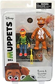 DIAMOND SELECT TOYS The Muppets: Fozzie & Scooter Series 1 Action Figure Set