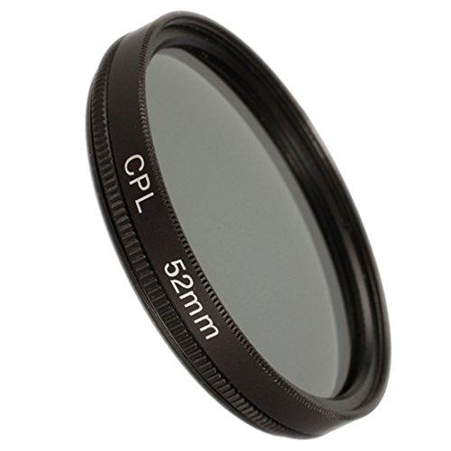 Gfhrisyty Filtro CPL polarizador circular de 52 mm para 650D 700D D3100 D3200 D3300