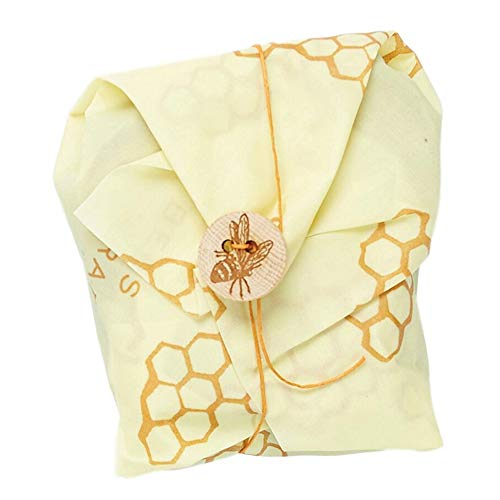Bee's Wrap Sandwich Wrap, Eco Friendly Reusable Beeswax Food Wrap, Sustainable, Zero Waste, Plastic Free Alternative for Wrapping Sandwiches (Honeycomb Print)