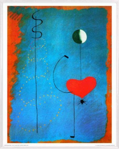 1art1 Joan Miró Stampa d'Arte e Cornice (Plastica) - Ballerina, 1925 (50 x 40cm)