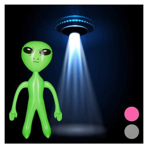 Relaxdays Extraterrestre Gonflable Figure Martien Déco de Fête Science Fiction Jouet Flottant à Gonfler, Vert