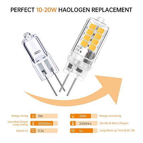 20 x G4 Halogen Light Lamp Lighting 20W Warm White SS