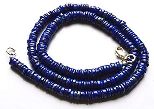 Kralen Edelsteen 1 Strand Natuurlijke 16 Inch Lange Strand-Super-AAA Kwaliteit, Lapis Lazuli Micro facetbandvorm Kralen Ketting 4,5 tot 5,5 MM Code-HIGH-28807