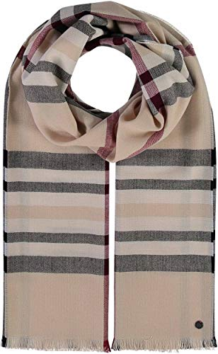 FRAAS Damen-Schal Kariert XXL - 60 x 200 cm - Moderner Oversized Decken-Schal - Plaid-Stola mit Karo-Muster - Perfekt für den Winter - Made in Germany Beige
