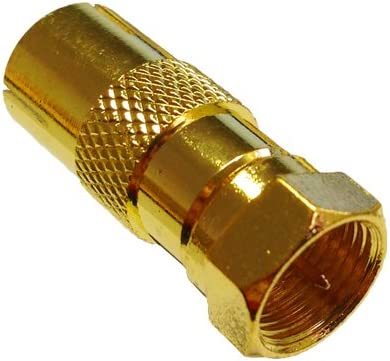 Koaxkupplung auf F-Kupplung Good Connections/® SAT Winkeladapter