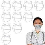 10 Soporte 3D para la forma de la boca, marco de soporte interno de silicona 3D para cubrir la , soporte de respiración reutilizable Marco de soporte interno