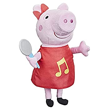 Hasbro Peppa Pig Oink-Along Songs Peppa Singing Plush Doll with Sparkly Red Dress and Bow Sings 3 Songs Inspired by The TV Series Ages 3 and up