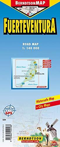 Fuerteventura: 1:140 000 +++ Corralejo, Islas Canarias, Morro Jable, Puerto del Rosario, Time Zones