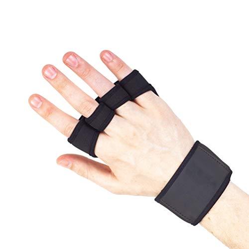 Abaodam Profesional Yoga Dumbbell Fitness Barbell Levantamiento de pesas Guantes de gimnasio Adultos Transpirable Medio dedo Guantes Talla S (negro)
