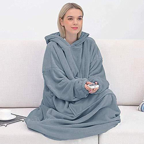 LXDWJ Mantas de Invierno con Capucha de Bolsillo Abrigo Largo Grueso Mujer cálida Mujer Desgaste Abrigo Suave cómodo Mantas Outwear (Color : A, Size : 9XL(Bust 152cm))