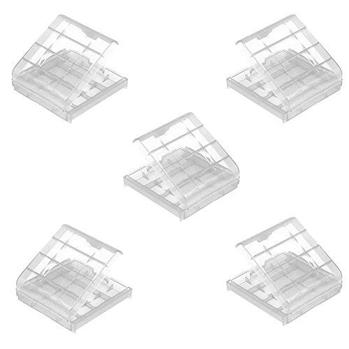 Demarkt 5X Nuevo Bateria Box plastico Cubierta de la Caja de Almacenamiento Holder para baterias AAA AA
