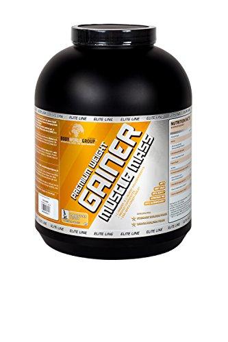 BWG Premium Weight Gainer Muscle Mass, Elite Line, Premium Strawberry Mass, 1er Pack (1 x 5000 g)