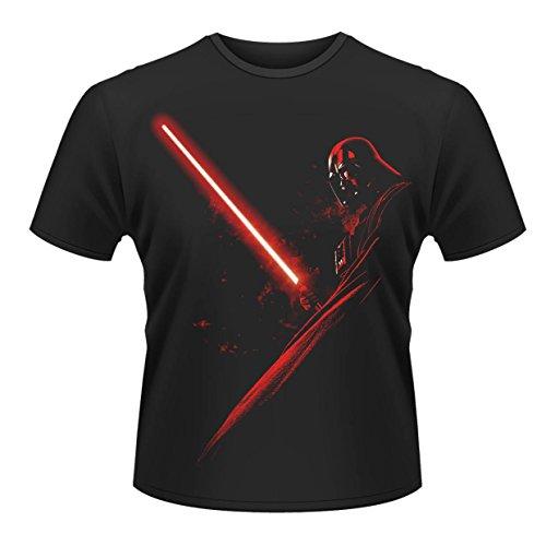 Plastic Head Star Wars Vader Shadow T-Shirt, Noir-Noir, Large Homme