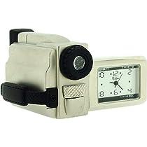 ミニチュアクロムメッキメタルビデオカメラノベルティCollectorsクロックimp1057