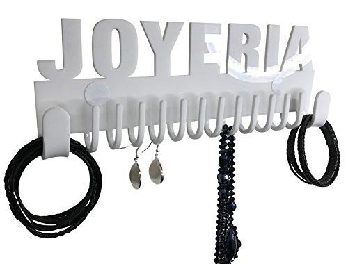 Organizador de collares para pared Galeara design Joyeria blanco - Ganchos de pared para alhajas