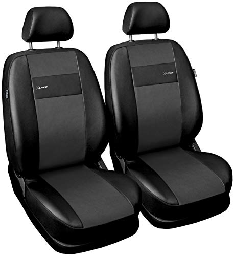 GSC Sitzbezüge Auto Vordersitze Universal Autositzbezüge Schonbezüge Vorne Kunst Leder X-LINE, kompatibel mit Opel Mokka