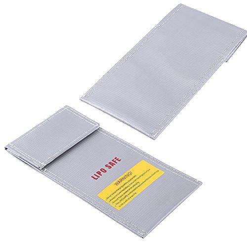 Wosune Bolsa Segura para batería, Protector Lipo de Bolsa Segura para batería para batería Lipo