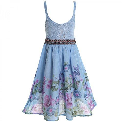 BEZLIT Mädchen Sommerkleid Petticoat 20423 Blau Größe 128