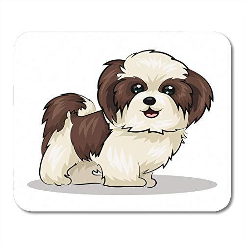 AOHOT Mauspads Beige Shitzu Shih Tzu Dog Pet Adorable Puppy Grooming Furry Mouse pad 9.5