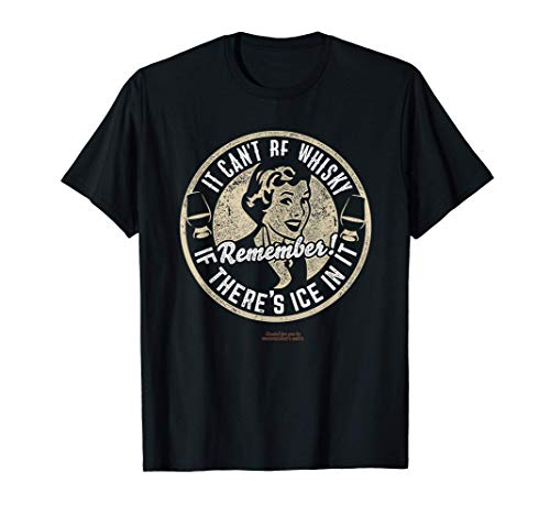 Whisky Design Ice & Whisky - Das Original Sprüche Whisky T-Shirt