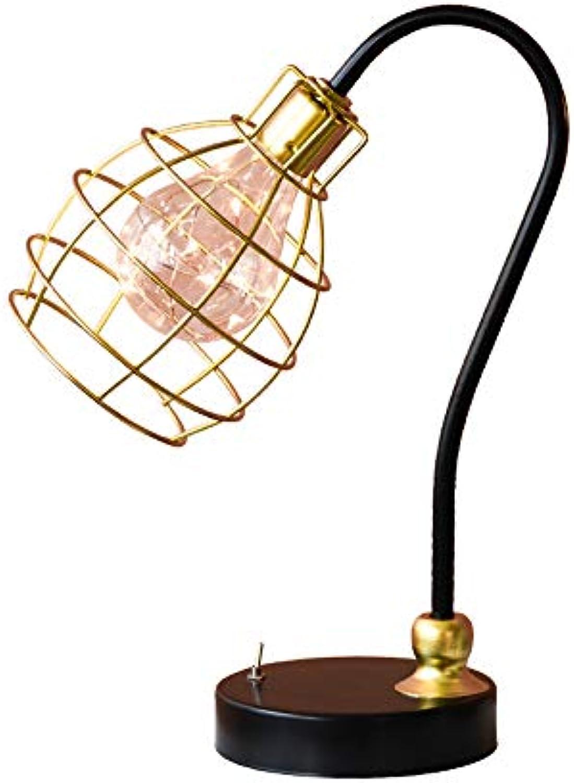 Nordic Eisen Tischlampe Druckschalter Geometrie Schreibtischlampe Kreative Nacht Dekorative Lampe Augenschutz Leselampe (Farbe   B)
