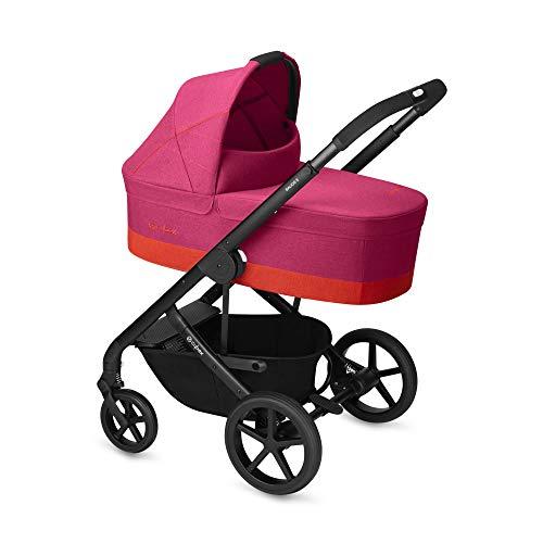 Cybex Gold - Cochecito Balios S con silla reversible y con capazo S, desde el nacimiento hasta 17 kg (aprox. 4 años), fancy pink