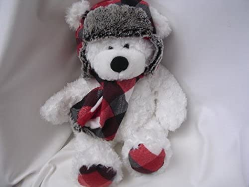 Aviator Teddy Bear Weiß Plush Toy Large 18 Collectible by St Jude's