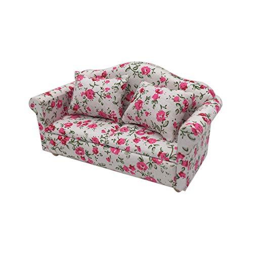 Sungpunet Niños Juego de imaginación 1set Juguete de los Muebles sofá de la Tela Modelo Mini sofá de casa de muñecas en Miniatura en Miniatura del salón