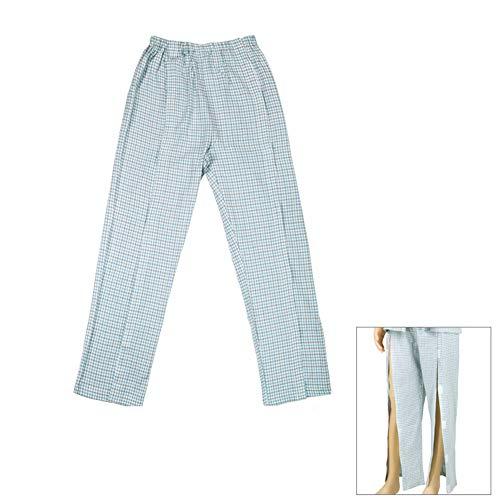 Q&M Patiënt Care Kleding, Jas Broek Gemakkelijk te dragen, Klittenband Volledige Open Ondergoed
