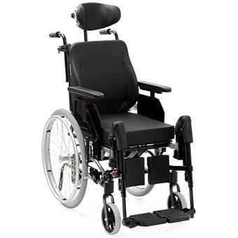 Alu Rehab Netti 4U CE Plus Comfort, Multifunktionsrollstuhl, das verbesserte Einstiegsmodell Pflegerollstuhl/Multifunktionsrollstuhl-Serie SB 45
