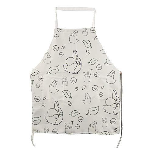 Schort Mijn Buurman Totoro Patroon voor Polyester met Mannen en Vrouwen voor Koken, Barbecue en Bakken met Zakken