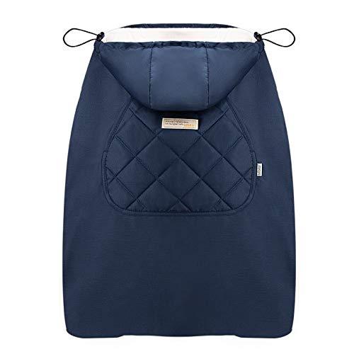 Bebamour Winterbezug für Babytrage Warmer Universal Hoodie Babytragebezug für alle Jahreszeiten (Blau)